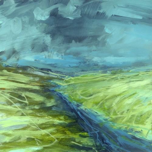 Libby Scott, Burn Roads, 30 x 30cm