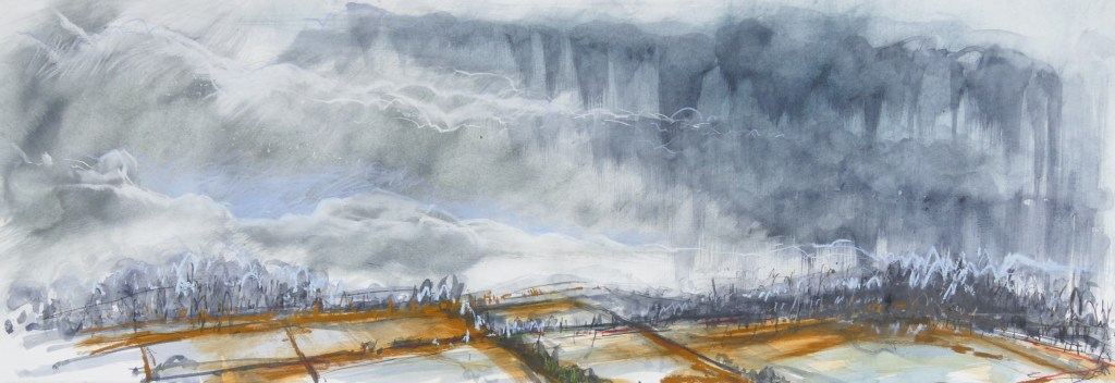 Libby Scott, Deluge, 50 x 120cm