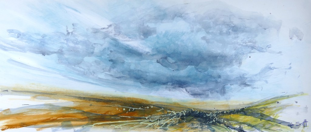 Libby Scott, Expansive Horizons, 40 x 80cm