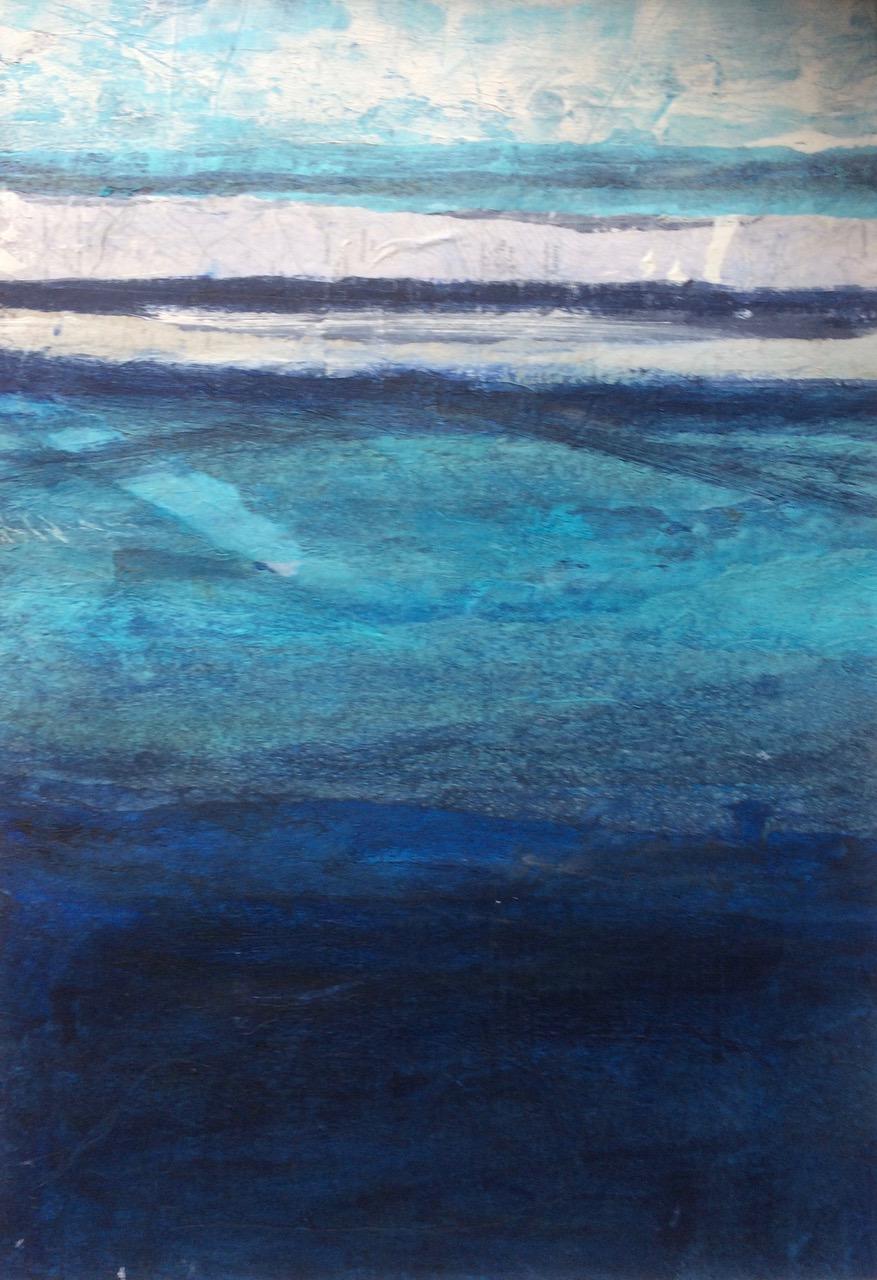 Catriona Taylor. Evening Horizon (mixed media, 48 x59cm framed)