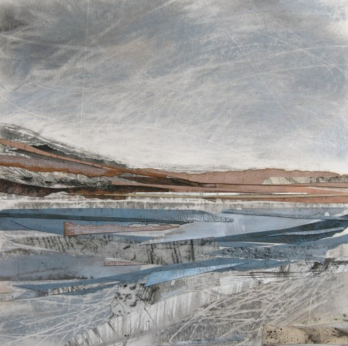 Across-Loch-Linnhe-Janine-Baldwin-acrylic-pastel-charcoal-and-graphite-collage-on-card-25-x-25cm-£295