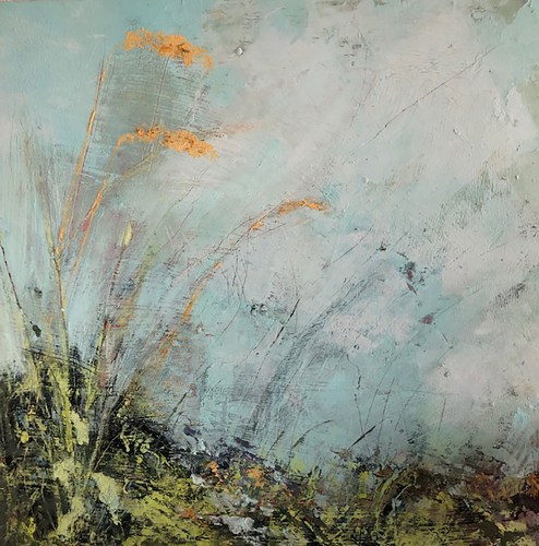 Penny Hunt. Verges3 30x30cm oil on board unframed