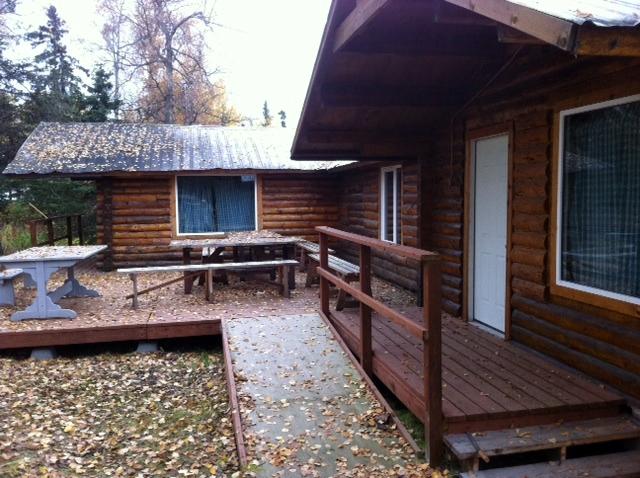 Caribou cabin deck area