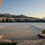 Psalm Lake in winter-- the ice rink