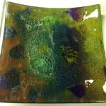12 x 12 fused glass platter by Mindy Meyn