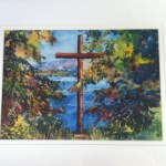 Glicee Print of Aileen Austin's Psalm Lake watercolor.