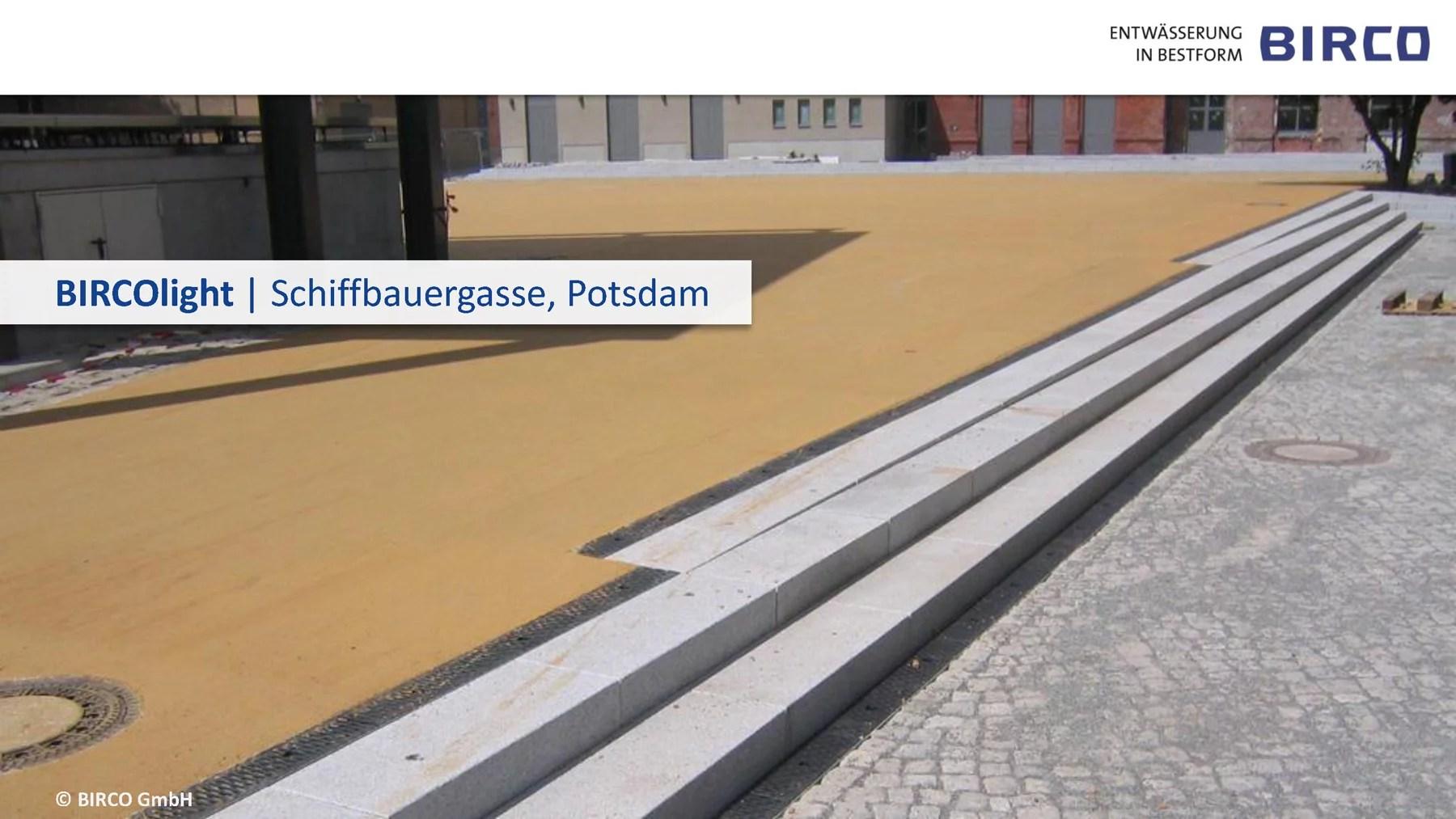 Häufig Entwässerungsrinne Mit Gefälle   Terrassengeländer & Entwässerung UF03