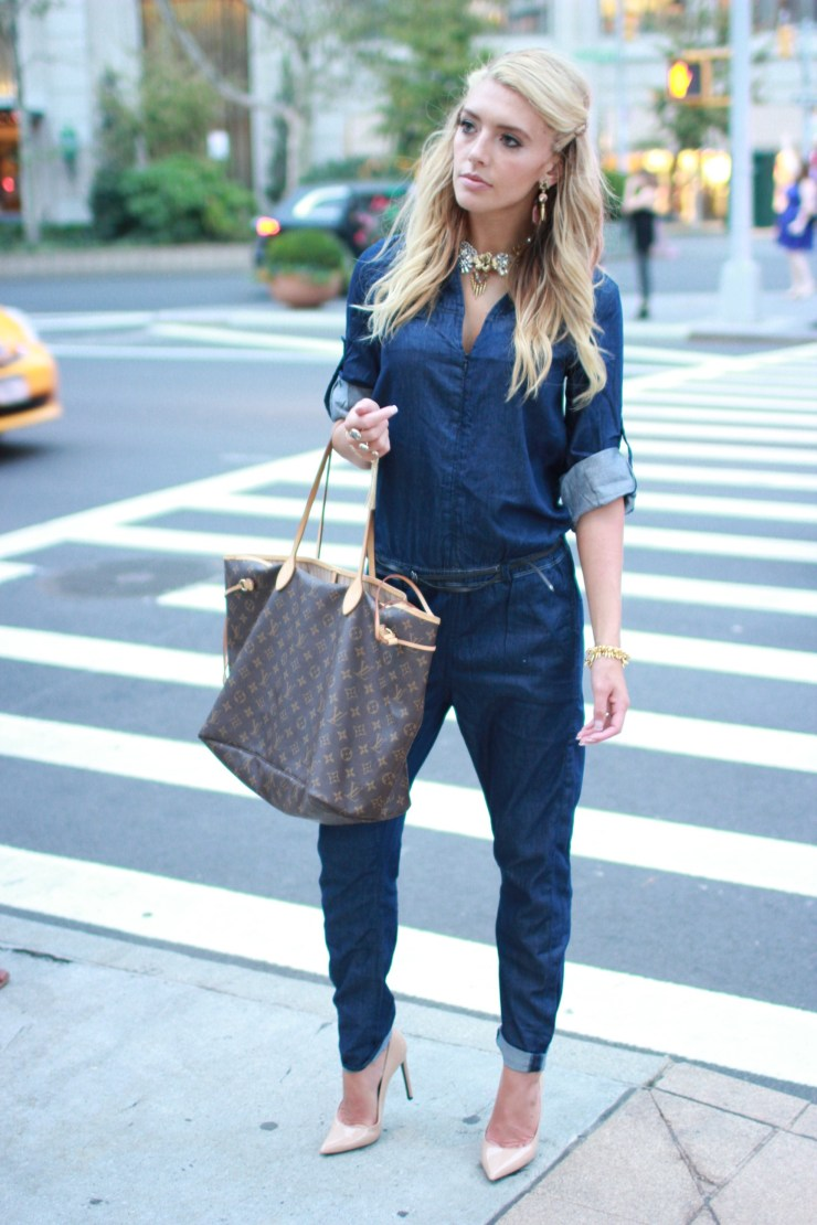 fashion week street style jumpsuit