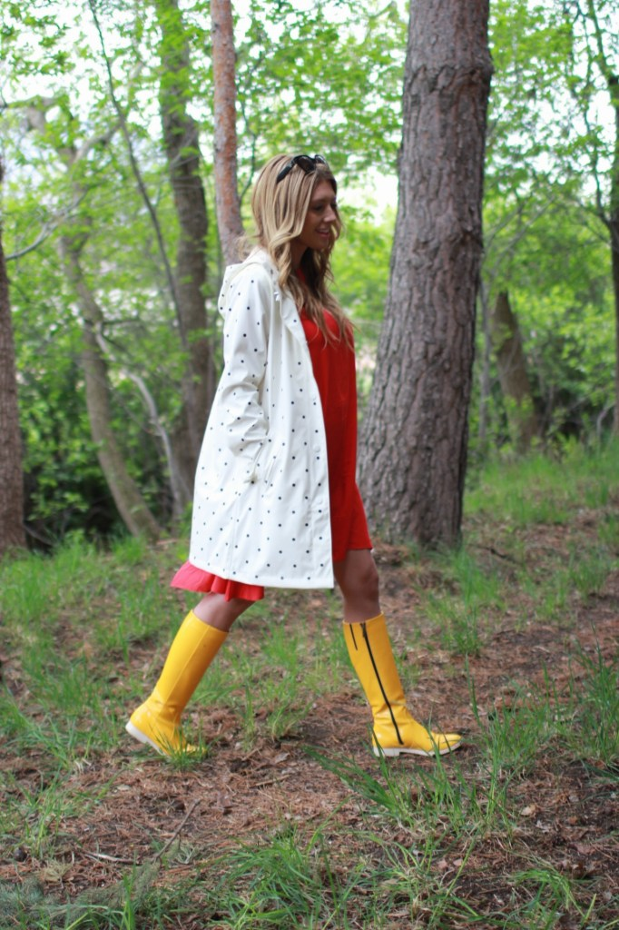 yellow tall rainboots