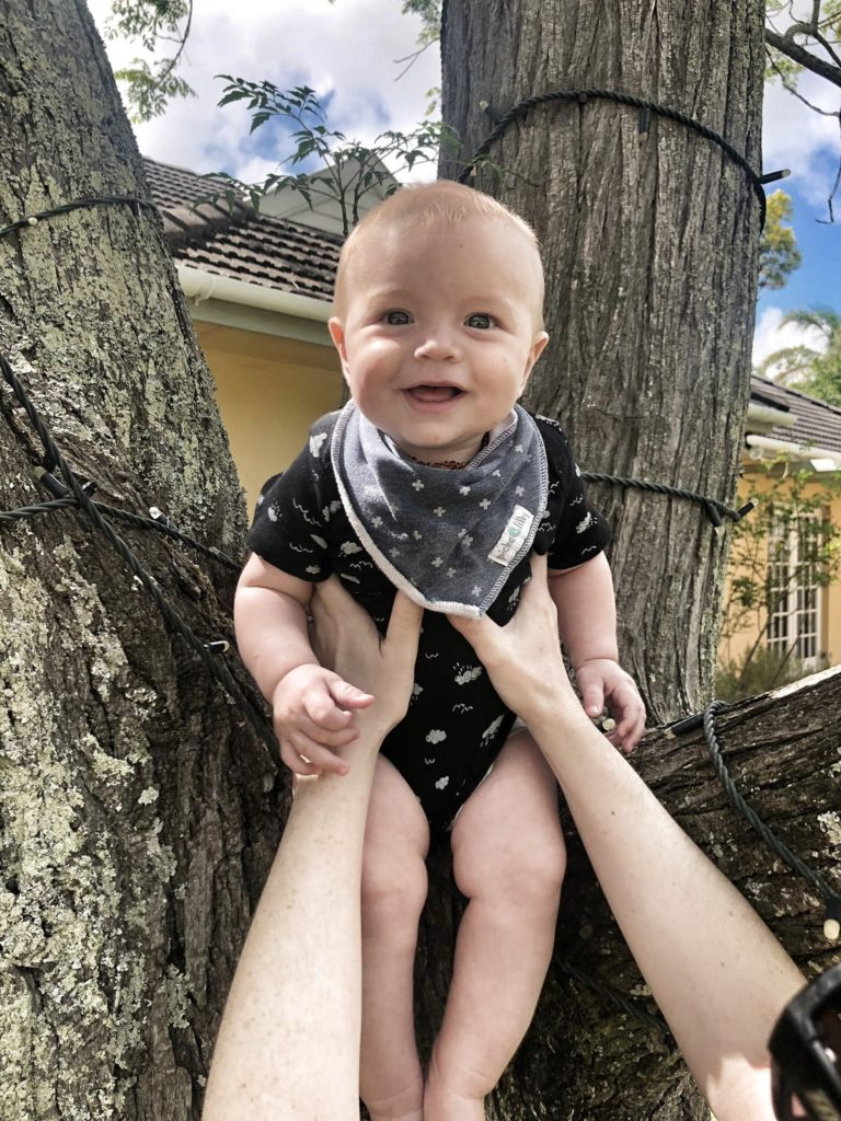 Baby in a tree