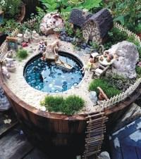 Fairy Garden In A Bird Bath | Birdcage Design Ideas