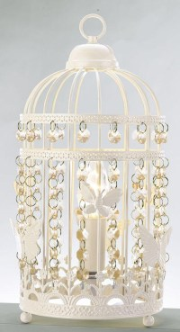 White Bird Cage Lamp | Birdcage Design Ideas