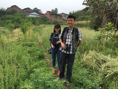 Yifan and Yumo - the engine behind Zigong's new birdwatching society and lovely people!