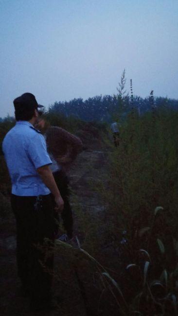 Beijing police taking down the illegal mist nets.