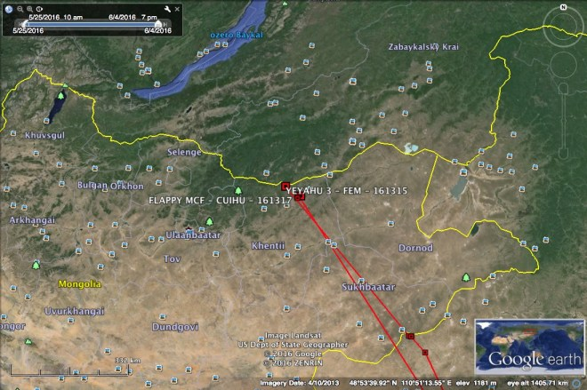 In a 2nd update on 4 June, Flappy is joined by the 2nd female on the border of Mongolia and Russia!