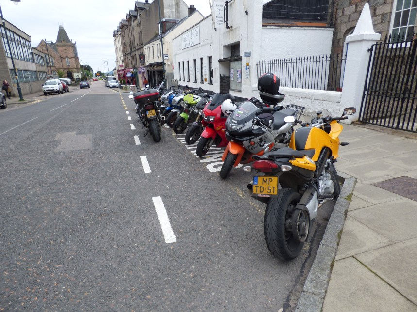 Blocked in by a load of Dutch bikers