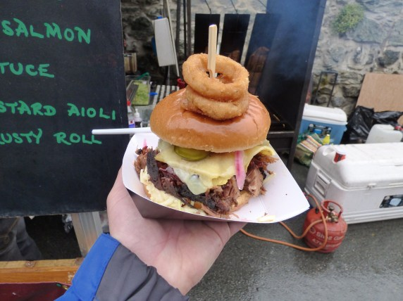 The mighty BBQ beef brisket burger.