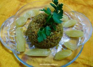 mor lahanalı bulgur pilavı