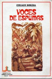 """""""Voces de espumas"""", poemario, 1987"""