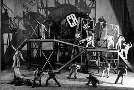 Le Cocu magnifique, esempio di uno spettacolo di teatro politico di Mejerchol'd, 1922.