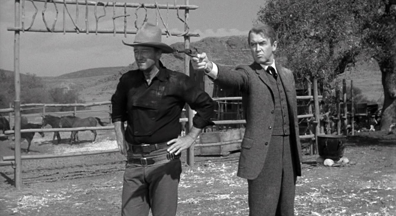 john wayne james stewart the man who shot liberty valance
