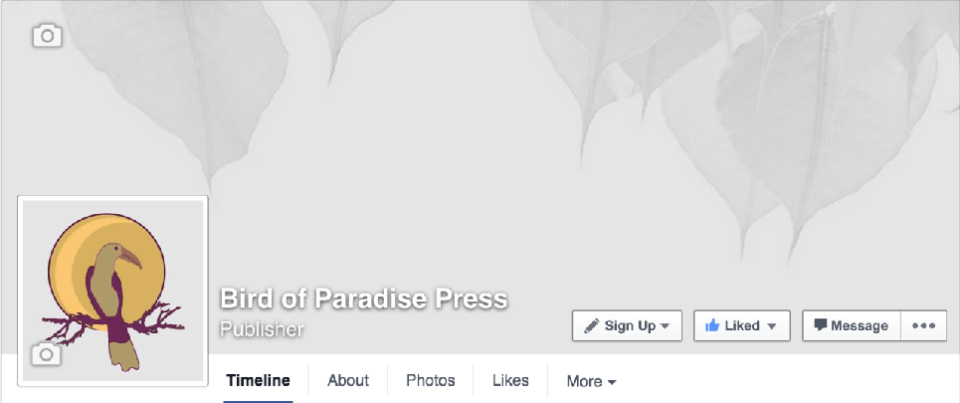 Bird of Paradise Press Facebook Page