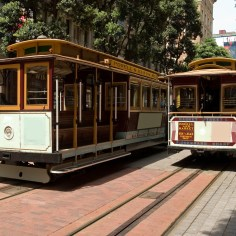two cable cars