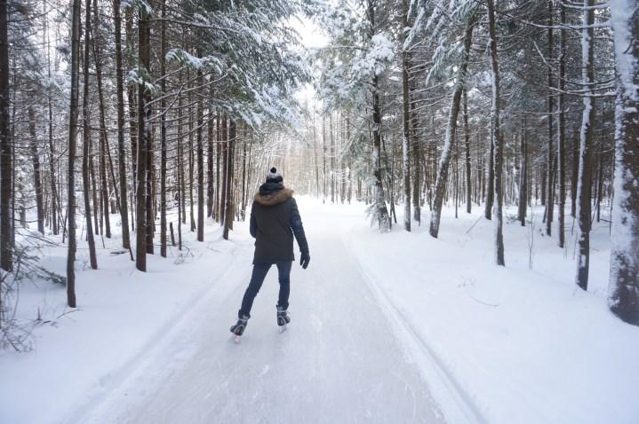 Sentiers glacés et sauts périlleux