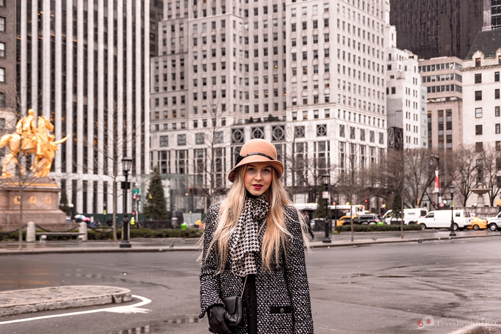 In front of the Plaza Hotel New York