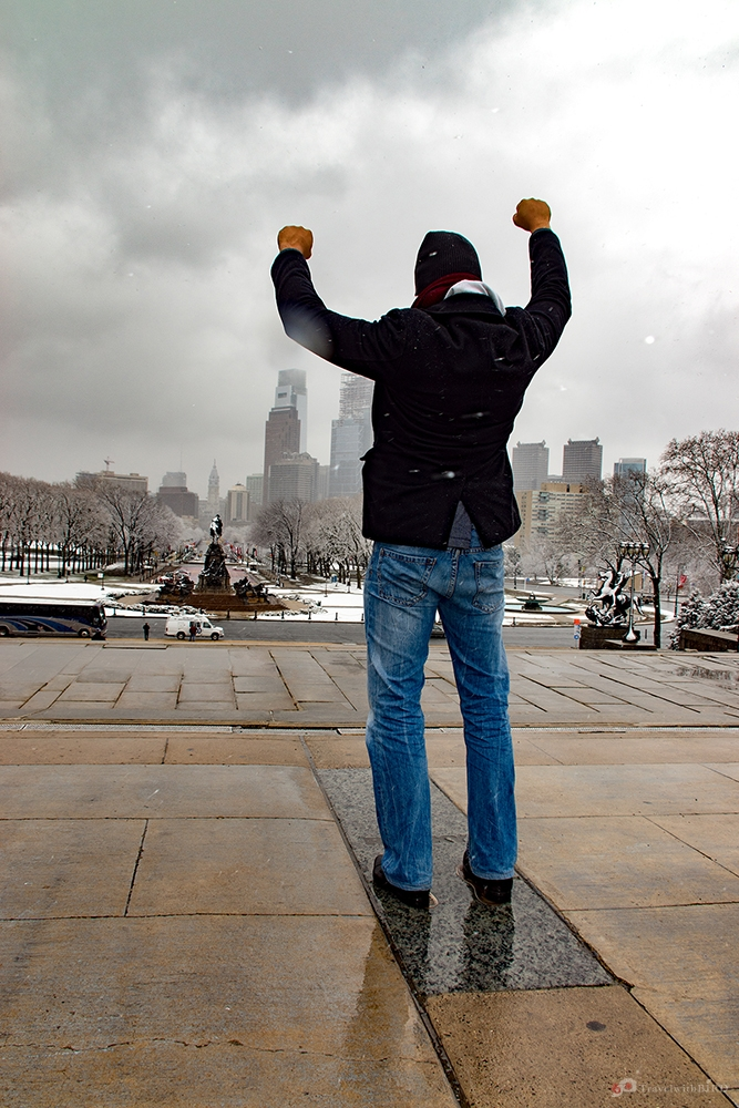Standing on the Rocky Steps