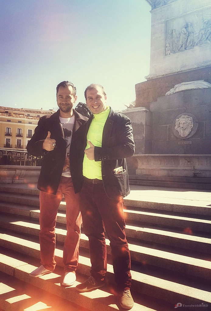 Daniel our Madrid guide and me