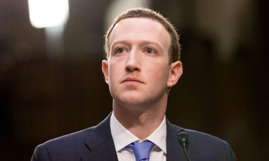 Facebook founder and CEO Mark Zuckerberg testifies at a joint hearing of the Senate Judiciary and Commerce committees in Washington on April 10, 2018. (Samira Bouaou/The Epoch Times)
