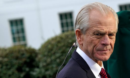 White House National Trade Council Director Peter Navarro is interviewed by Fox Business Network outside the White House October 08, 2019 in Washington, DC. Navarro will be taking a lead role in trade negotiations with the Chinese that are scheduled to begin this week. (Photo by Chip Somodevilla/Getty Images)