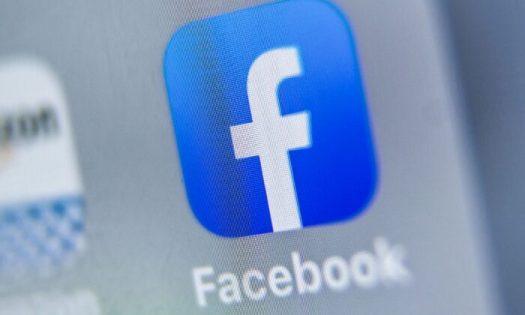 Facebook logo displayed on a tablet in Lille on Aug. 28, 2019. (Denis Charlet/AFP via Getty Images)