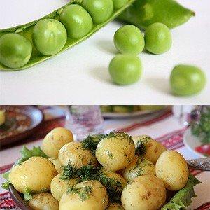 Peas, Potatoes and Sweet Corn Details