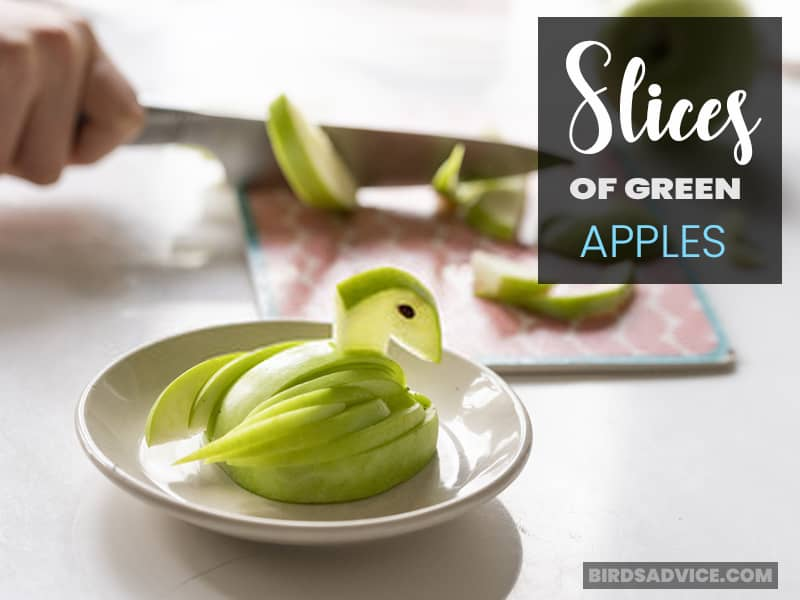 Slices of Green Apples