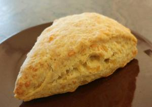 Now Serving Cheese and Dill Scone!