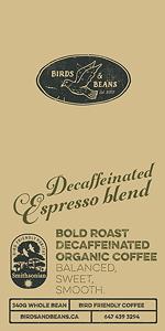 Bird Friendly Decaf Espresso