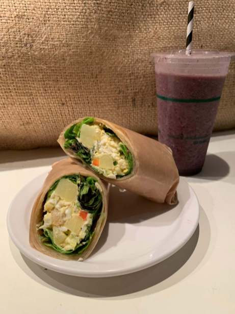 How about our Egg Salad Wrap and Boreal Berry Smoothie for lunch?