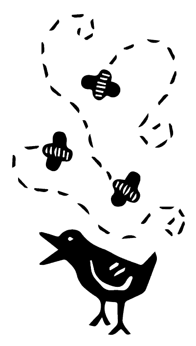 birds bees graphic