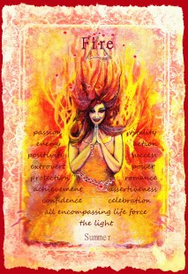 Fire Element 5 Oracle Card copy