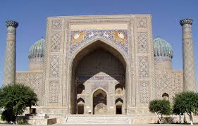 The Registan mosque in Samarkand, Uzbekistan