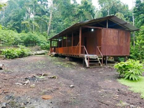 The cabins at Sacha Kawsay