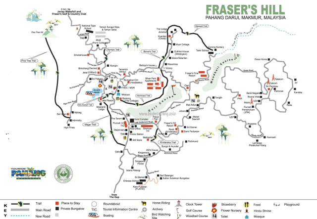 Map of Fraser's Hill