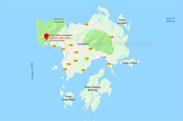 Langkawi International Bird Fest 2019 Map