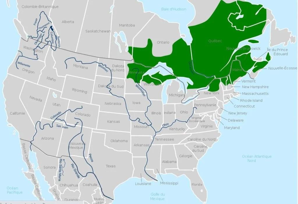 Mink Frog Range Map
