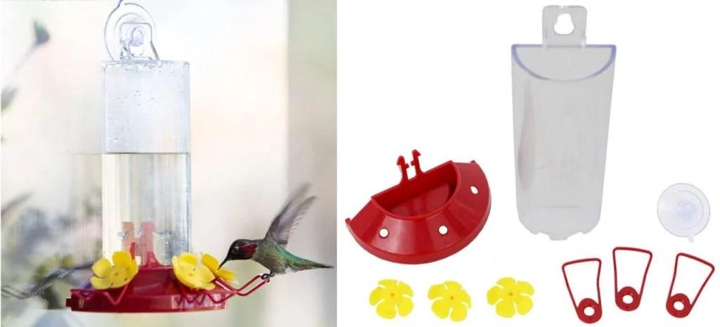 perkey pet window hummingbird feeder