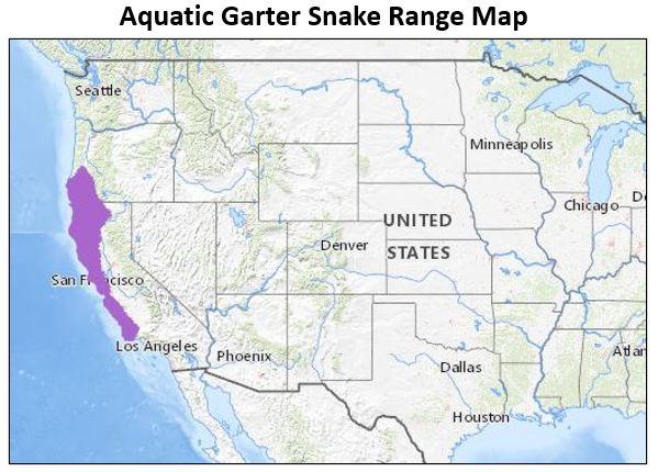 aquatic garter snake range map