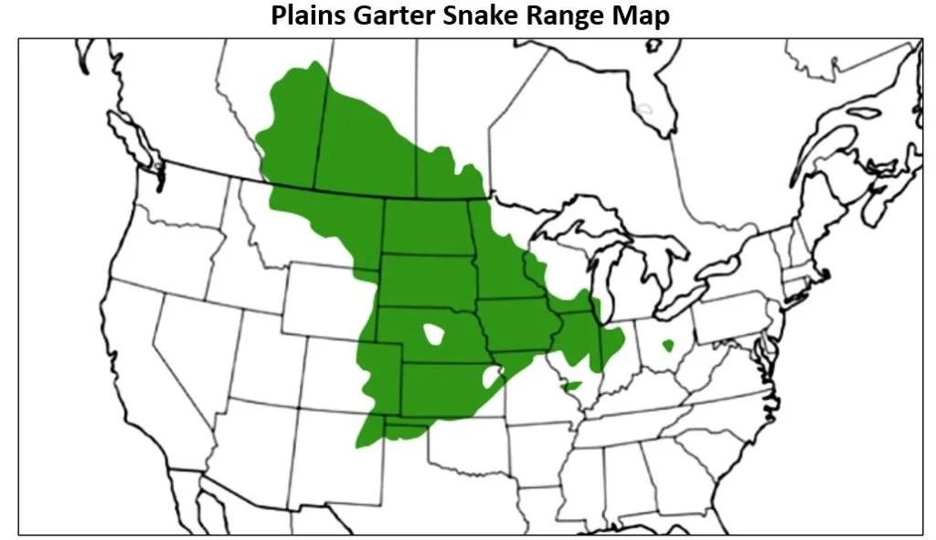 plains garter snake range map