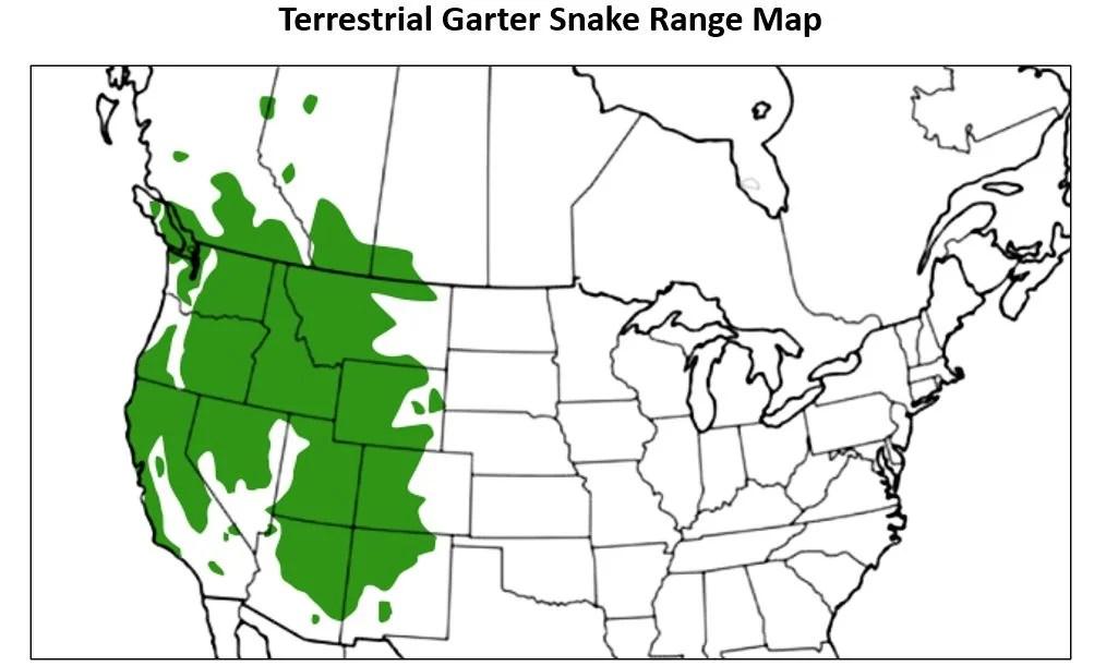 terrestrial garter range map